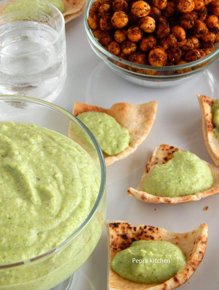 Ντιπ με Μπρόκολο - Αντζούγια και Πικάντικα Ψητά Ρεβύθια  http://www.pepiskitchen.blogspot.gr/2014/10/broccoli-anchovy-dip-spicy-chickpeas.html