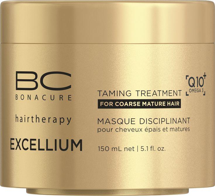 BC EXCELLIUM Q10+ OMEGA 3 Taming hajpakolás, 150 ml Ez a pakolás megszelídíti a száraz, durva tapintású hajat – táplálja és erősíti.