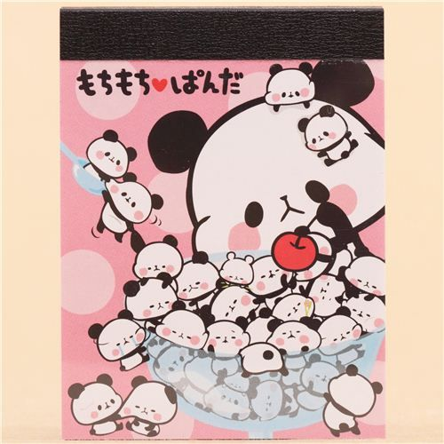 Pink Mochi Panda Bowl Mini Note Pad by Kamio from Japan $1.94 http://thingsfromjapan.net/pink-mochi-panda-bowl-mini-note-pad-kamio-japan/ #mochi panda memo #kawaii memo #cute Japanese stationary