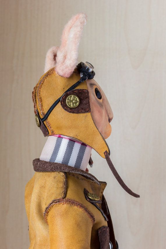 OOAK art doll character doll. Rabbit Pantufl. by BASTET11HandMade