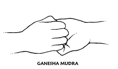 Ganesha mudra Este mudra estimula la actividad cardíaca, fortalece la musculatura del corazón, relaja los bronquios y libera las tensiones de cualquier tipo en esta zona. Abre el cuarto chakra y otorga valor, confianza y una actitud abierta frente a las demás personas.