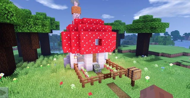 Idk if this will get removed again but mushroom house 🥺 Minecraft in 2020 Minecraft decorations Minecraft crafts Minecraft cottage