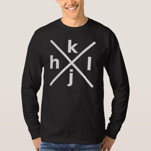 hjkl for Hardcore Vi/Vim Hackers - Black T-Shirt