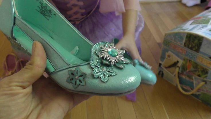 Принцессы Дисней платье корона туфли Рапунцель. Rapunzel's dress up.