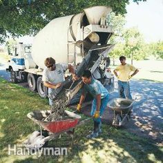 Calculate how many cubic yards of concrete you need for a walk, driveway or basement.