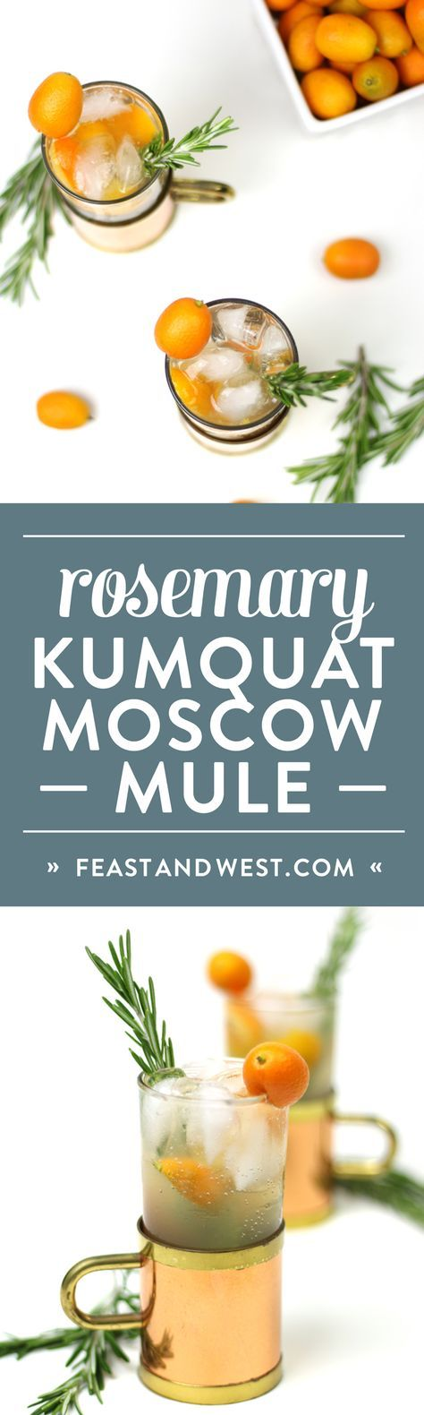 Pick up some pearly kumquats, cut some rosemary and combine for a totally new way to appreciate winter citrus. The Rosemary Kumquat Moscow Mule is a bright and refreshing variation on everyone's favorite drink with vodka and ginger beer. Copper mug optional, but totally encouraged. (via http://feastandwest.com)