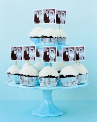 Photo Cake Toppers   Say goodbye to piping bags and fussy frosting. These creative ideas for embellishing birthday treats with surprising supplies are a piece of cake.  Make a picture-perfect cake (or cupcakes). Color-copy images onto card stock and affix back-to-back with double-sided tape around coffee stirrers.