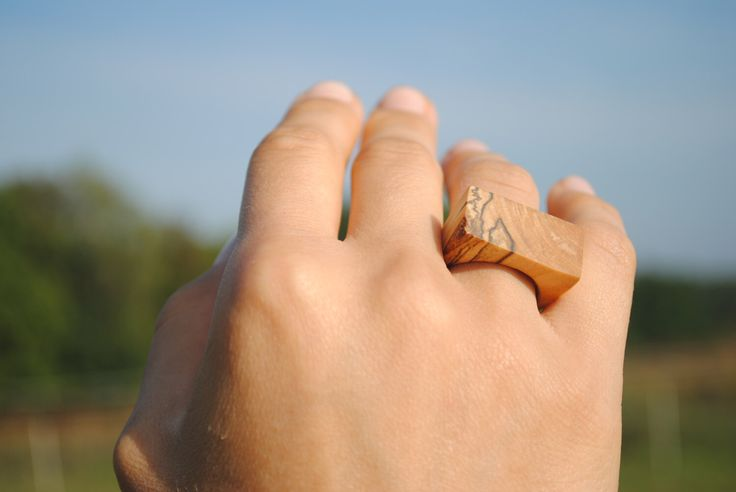 Wooden birch ring, unique natural design, handmade wooden ring by WowodesignShop on Etsy https://www.etsy.com/listing/490723221/wooden-birch-ring-unique-natural-design