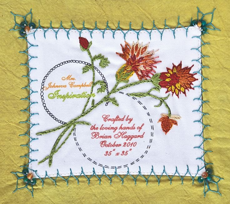 Quilt label - Design by Brian Haggard
