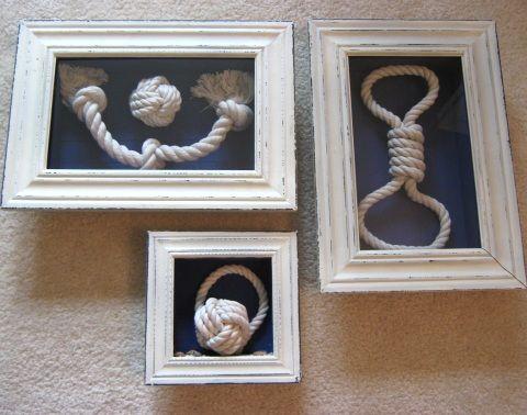 Top 20 nautical rope crafts decor ideas beach for Nautical craft ideas