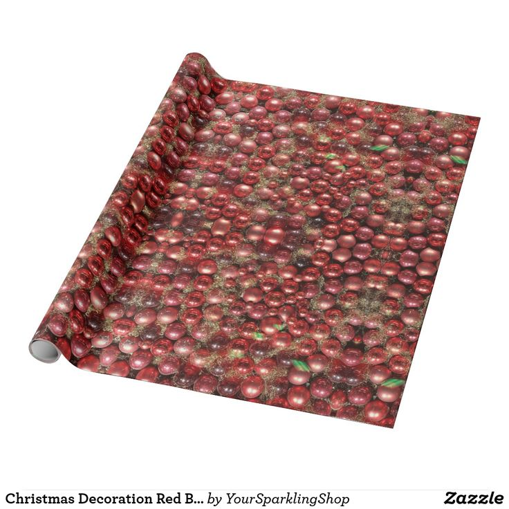 Christmas Decoration Red Baubles Pattern