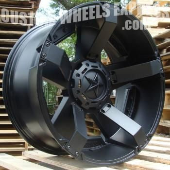 KMC XD811 RS2 Rockstar II Matte Black Custom Rims Wheels These are the rims I'm getting for my Dodge Ram in 5 business days :) YEAAA BABY <3 (Thank you hubby)