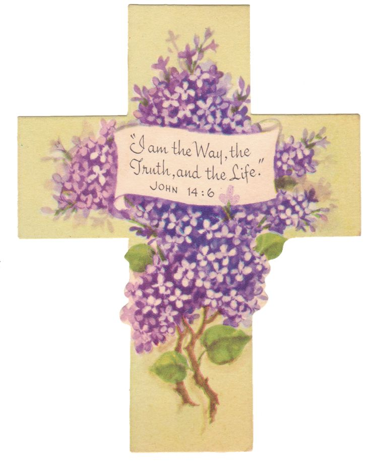 Vintage Easter Cross Printables  Free Printable Religious Easter Cards