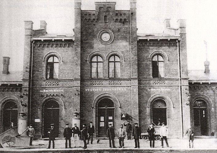 Bahnhof Ibbenbüren um 1885 stadtmuseum-ibbenbueren.de