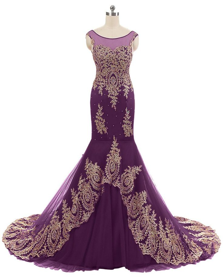 """Sunvary Mermaid Appliques Wedding Reception Prom Dress Bridesmaid Gown Size 22W- Grape. This dress is Made-To-Order. In order to make the most suitable dress, please measure yourself as the """"how to measure"""" Image, use the Size Chart Image on the left and send us your height without shoes and with shoes. We will contact you to confirm the measurements details. If no reply from you, we will make this dress as our Size Chart. Customized sizes and colors are also available. The shooting light..."""