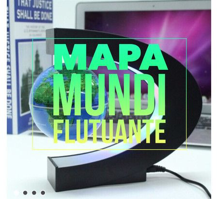 Globo mapa mundi flutuante - Nós na Trip Store