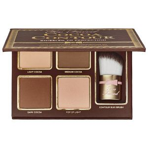 NEW and Gorgeous! Too Faced - Cocoa Contour Chiseled to Perfection Contour Kit! #sephora $40.00 Look instantly slimmer, get lifted cheekbones, or sculpt your features like an A-list celebrity with the Too Faced Cocoa Contour Kit—only at Sephora. Perfect for wearing separately or blending together, this curated kit provides two essential sculpting shades, a matte highlighter, and a luminous light shade for a contoured look that stands out. Infused with the antioxidant-rich, cocoa complex...