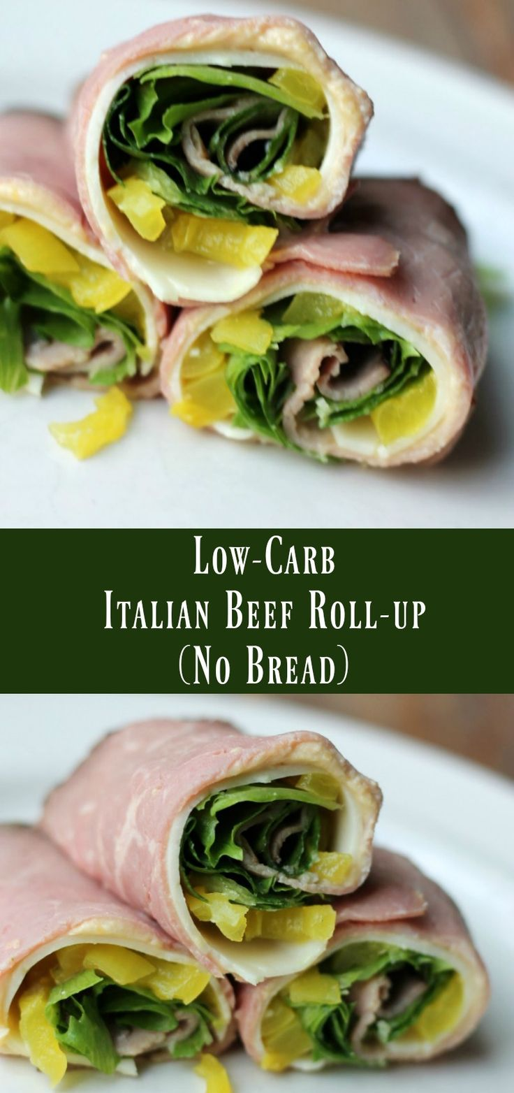 Low Carb Italian Beef Roll Up No Bread Recipe. make-ahead low carb snack or lunch recipe.