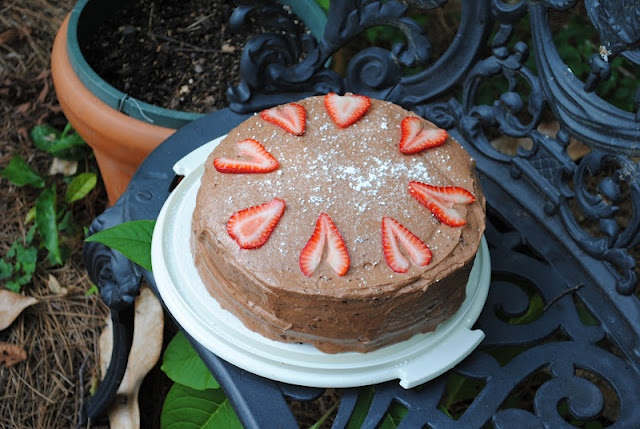 Chocolate Cake with Nutella Whipped Cream Frosting