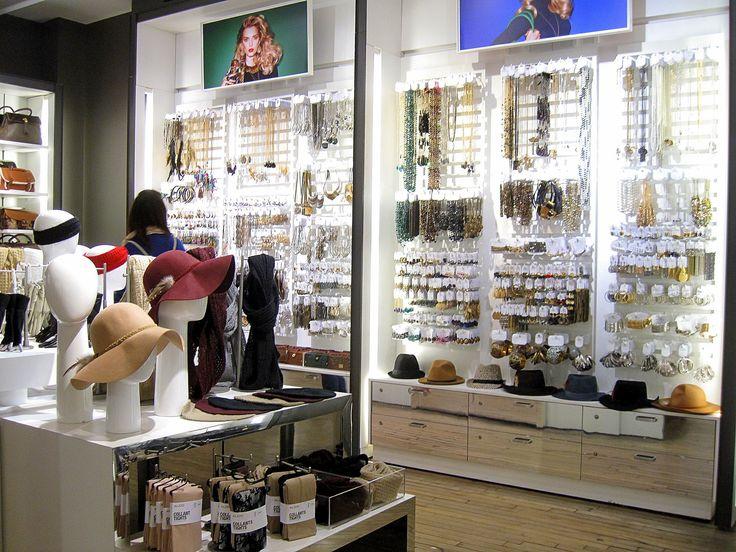 Boutique Interior Design. Accessories Display Ideas