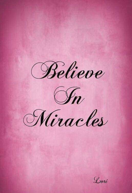 Breast Cancer Awareness ~ Believe In Miracles