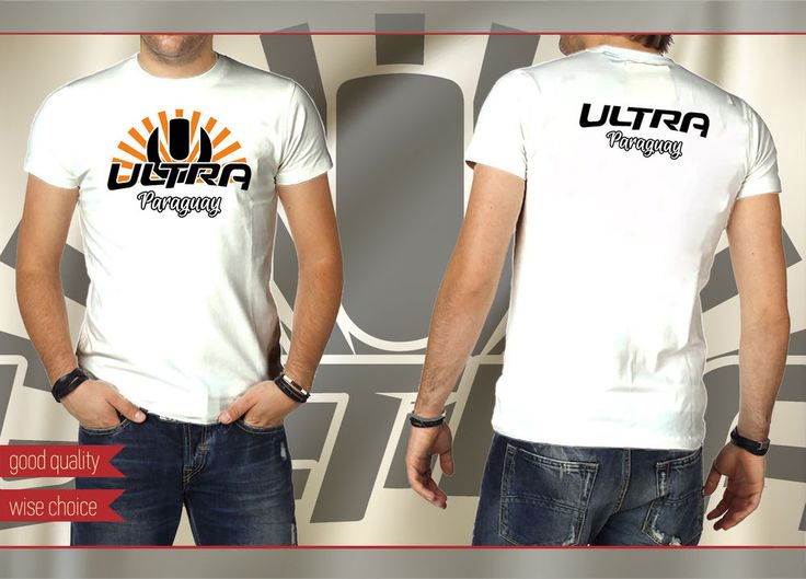 ULTRA PARAGUAY Music Festival Fans T-shirt COLOR: White Size: S - XXL #SOLS #PersonalizedTee