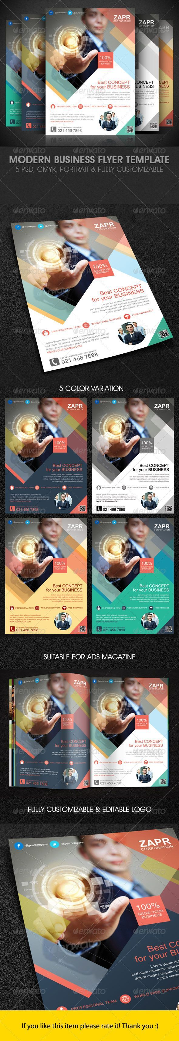 Modern Business Flyer Template - Corporate Flyers: