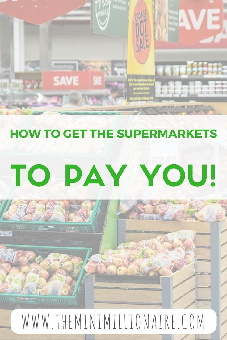 So, I've taught you how to get your supermarket shopping for nothing. Now let me show you how to get the supermarkets to pay you for taking it all away...