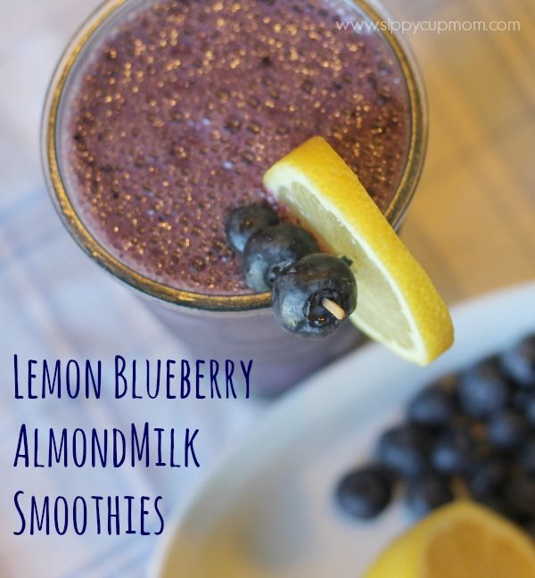 ... lemon blueberry smoothies recipe # cbias # shop almond milk smoothies