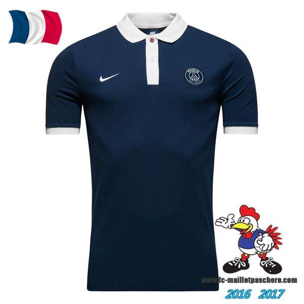 Promo Polo De Foot Paris Saint-Germain PSG Bleu Marine 2016/2017 Pas Cher