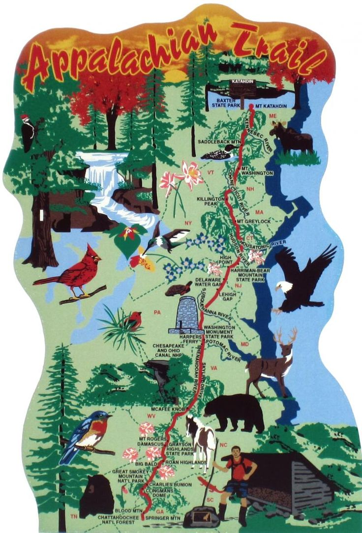 The Best Map Of Appalachian Trail Ideas On Pinterest Hiking - Us map with appalachian mountains