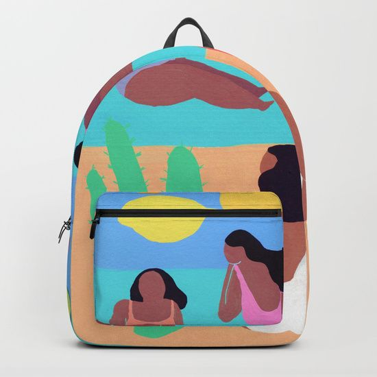 Fruity Beach Backpack by Helo Birdie at Society6 #Backpack #society6