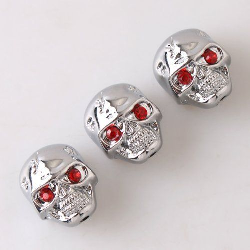 3pcs Electric Guitar Volume Tone Control Knobs Chrome Skull Head Skull Knob by Guitar control knob/switch/plate/jack. $4.55. 100% new  high quality and testing is fine  Item 100% like the picture shown  3pcs volume tone knobs with skull shaped   Use these skull knobs to dress up your electric guitar or replace the dingy or old knobs   Skulls stick up about 1.9cm tall, and about 2.3cm from head to chin   5mm knurled inner diameter   color: Chrome  material:zinc alloy  packa...