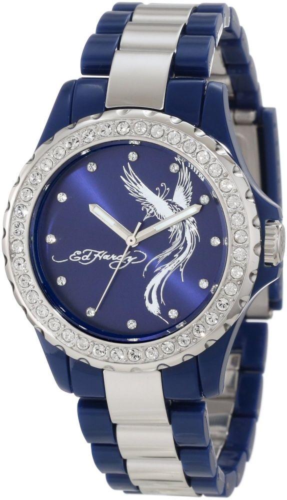 Women's Fashion Jewelry: Ed Hardy Women's VX-BL Vixen Blue Watch: Watches