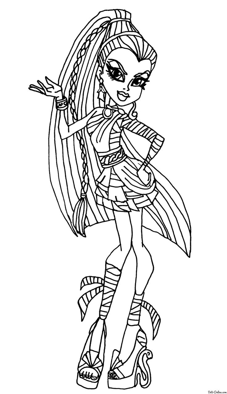 Ausmalbilder monster high colouring pages 2