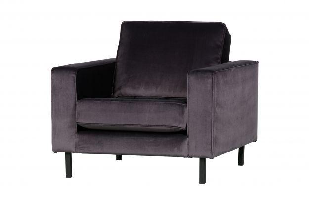 Robin fauteuil velvet antraciet | Banken & fauteuils | Woonkamer | Woood