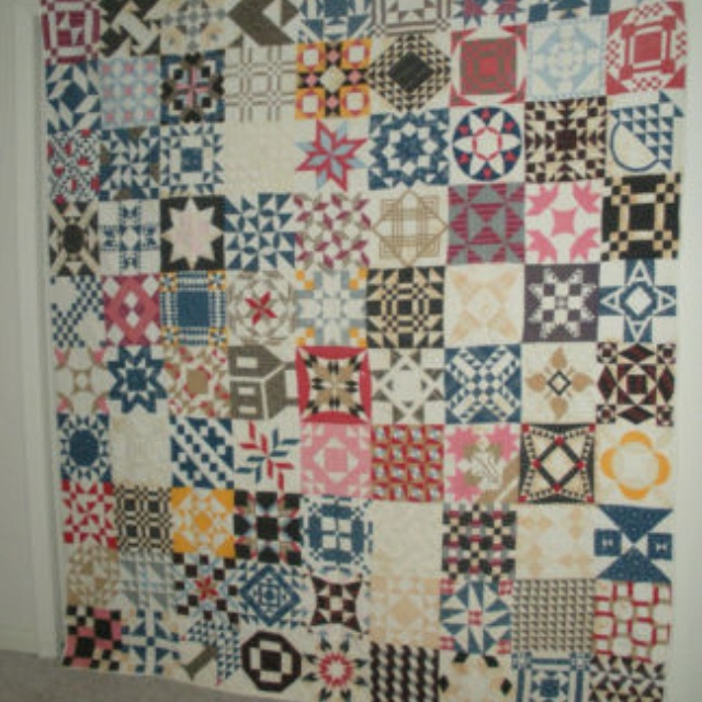 Antique sampler quilt from eBay.