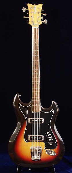 1968 Hagstrom H8 Eight-String Bass Guitar