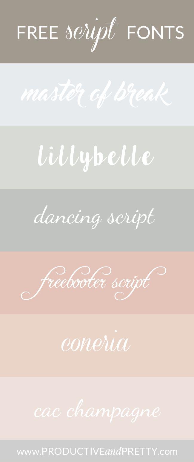 Free script fonts / Free handwriting fonts