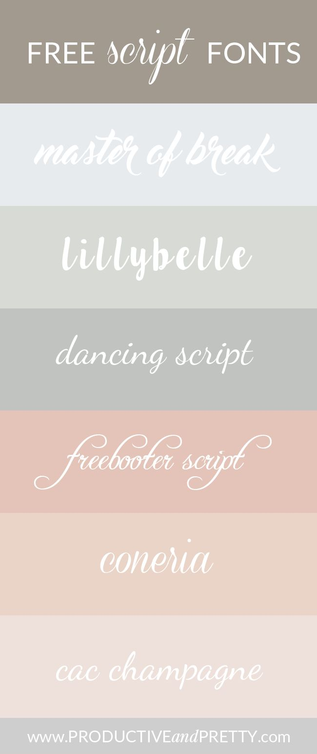 Free script fonts / Free handwriting fonts