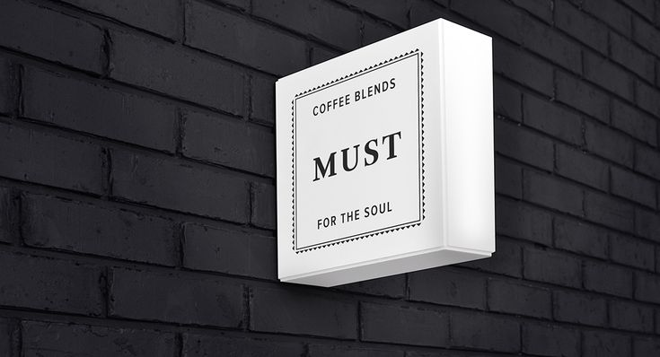 Visual identity and packaging for Mexican coffee shop Must designed by Firmalt.