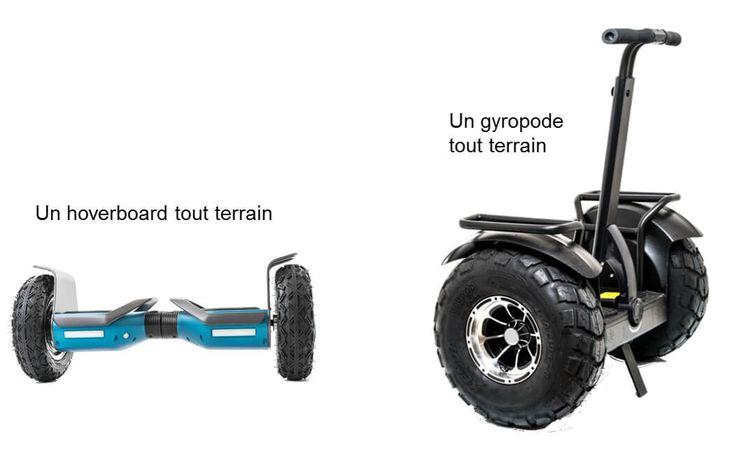 comparaison entre gyropode tout terrain et hoverboard
