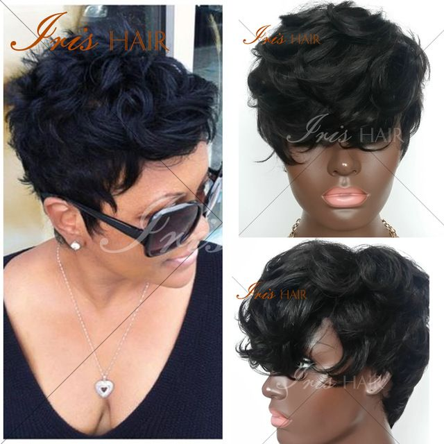 7A Brazilian virgin human hair curly wigs short Natural wave Glueless Full lace wigs Lace front  short bob wigs for black women
