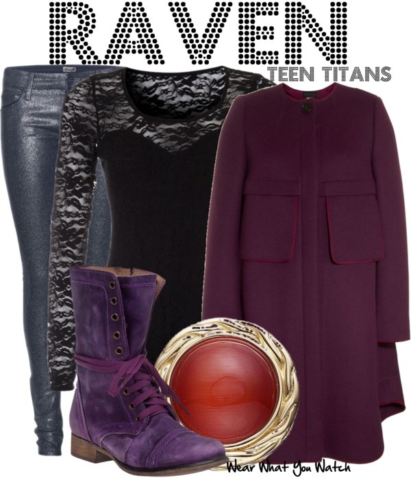 Inspired by Teen Titans character Raven.