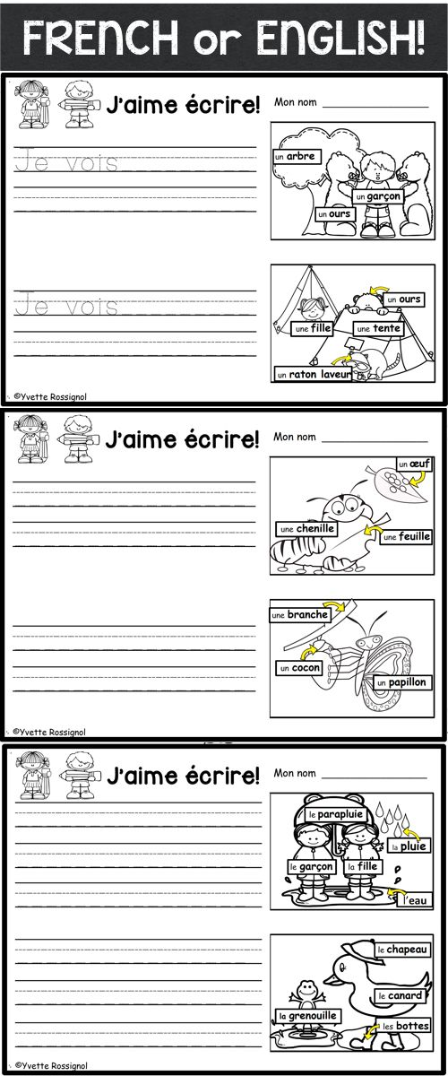 PERFECT for English OR French second language! Primary-Grade 1