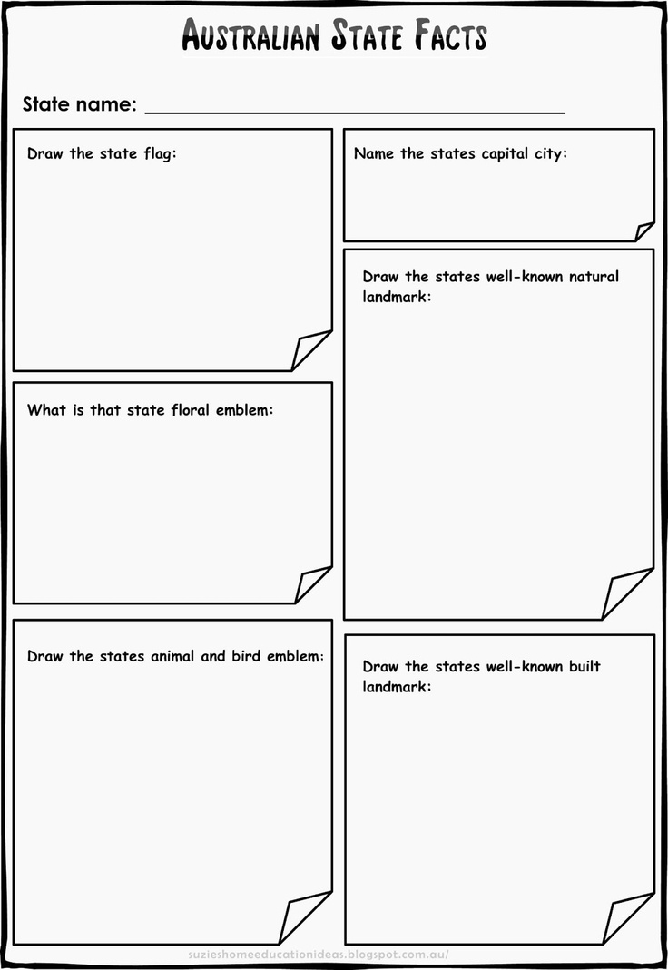 best images about hsie cardboard forts goods printable template for recording researched information and facts about n states and territories ready to