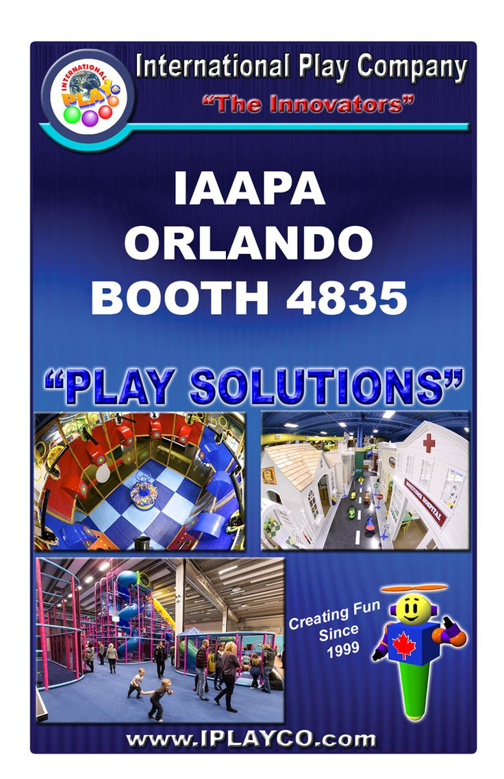 International Play Company #Iplayco will be at the #IAAPA Orlando show, booth #4835. Drop by and see us. See our new product and ask about My Town. Creating FUN since 1999. #WeBUILDfun #WeCREATEfun #CommercialPlayground #IAAPA #IAAPAorlando #IAAPA2015 #FECdevelopment #FamilyEntertainmentCenter