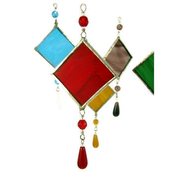 Stained Glass Suncatcher Pick Your Color Sun by wishartglass, $6.00