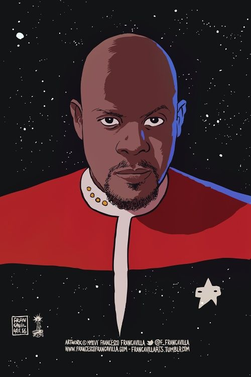 First African American cast as a lead character (Commander Sisko) in Star Trek. Avery Brooks - Francesco Francavilla