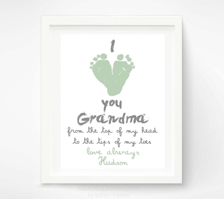 Personalized Mother's Day Gift for Grandma  I by PitterPatterPrint, $30.00
